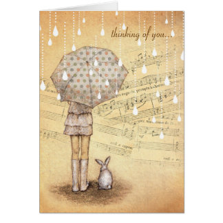 White Rain Symphony Thinking of You Custom Card