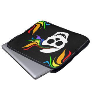 White Rainbow Skull Laptop Sleeve