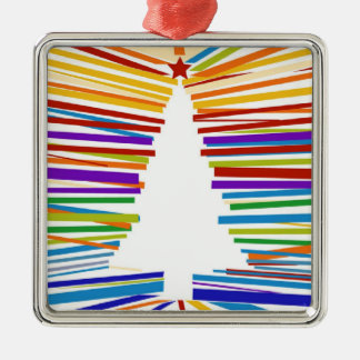 White Rainbow Tree Ornament