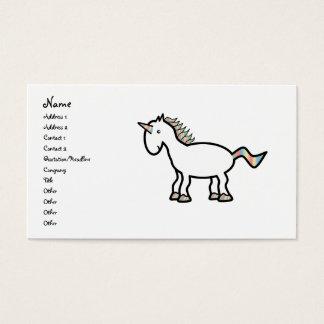 White rainbow unicorn business card