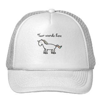 White rainbow unicorn trucker hat