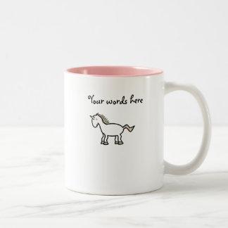 White rainbow unicorn Two-Tone coffee mug