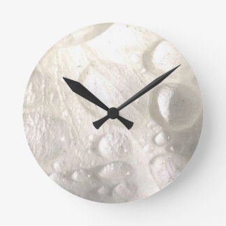 White Raindrops Wall Clock