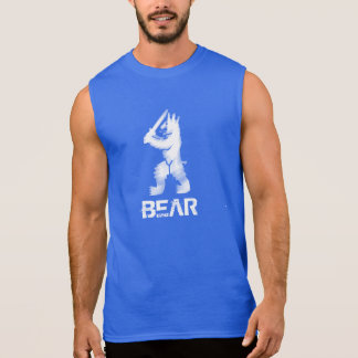 White Rampart Bear Sleeveless Shirt