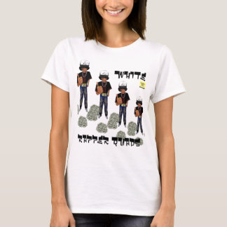 White Rapper Quads T-Shirt