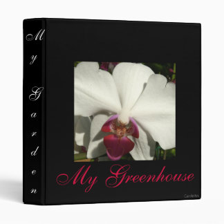 """White Raspberry Orchid"" Binder"