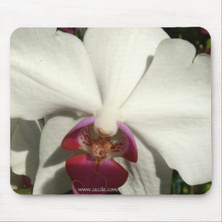 """White Raspberry Orchid"" Mousepad"