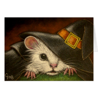 WHITE RAT HALLOWEEN Card