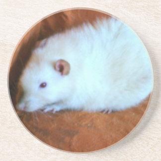 White Rat Snowball Coasters