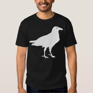 White Raven Bird Print Custom Tee Shirt
