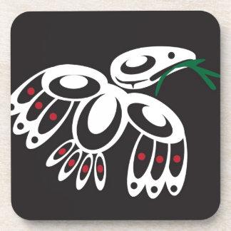 White Raven Drink Coaster