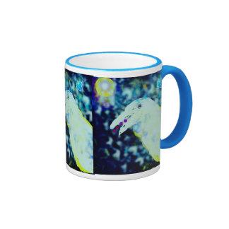 White Raven Fantasy art mug