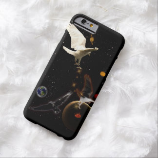 White Raven Fantasy Outer Space Artwork Barely There iPhone 6 Case