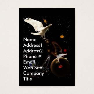 White Raven Fantasy Outer Space Business Card