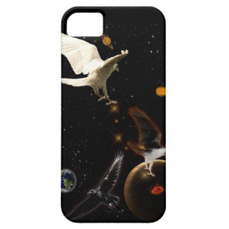 White Raven Fantasy Outer Space iPhone 5 Case