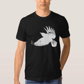 White Raven in Flight - - flying wings crow tshirt