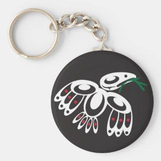 White Raven Keychain