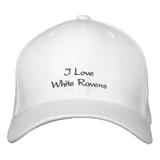 WHITE RAVEN LOVER Embroidered Cap