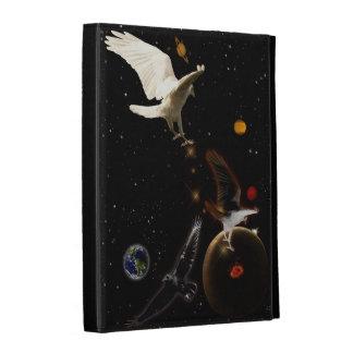 White Raven Outer Space Fantasy Art iPad Folio iPad Folio Covers