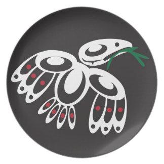White Raven Party Plates