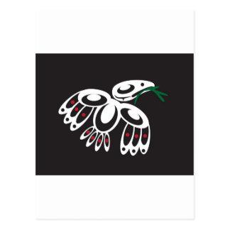 White Raven Postcard