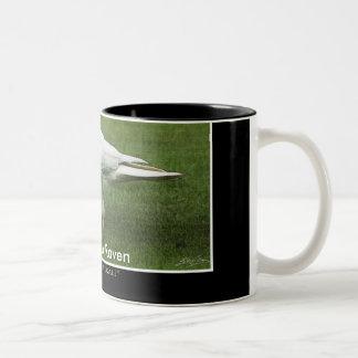WHITE RAVEN Two-Tone COFFEE MUG