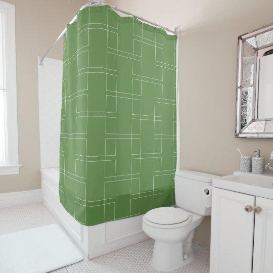 White Rectangles Horizontal Retro Shower Curtain | Zazzle.com