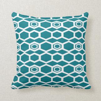White rectangular Diamond Pattern Throw Pillow