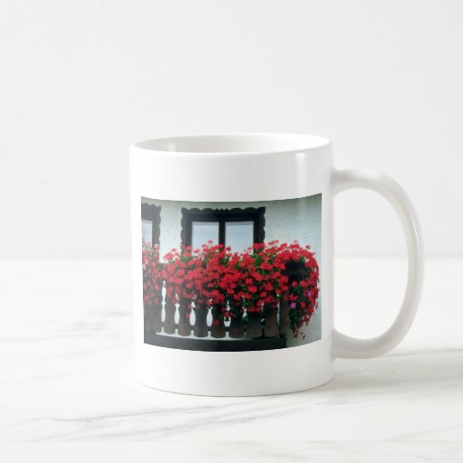 White Red accent flowers Coffee Mug