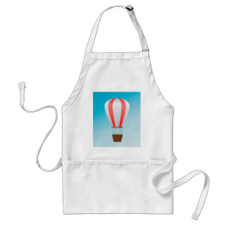 White red air balloon adult apron