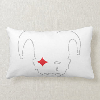 White, Red, And Grey MTJ Lumbar Pillow