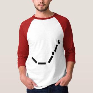 White/Red Basic 3/4 Sleeve Raglan Shirt