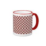 White & Red Checkers Coffee Mug