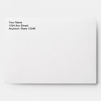 White & Red Christmas Card Envelope w/ Address