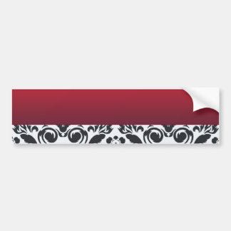 White Red Damask special gift Car Bumper Sticker