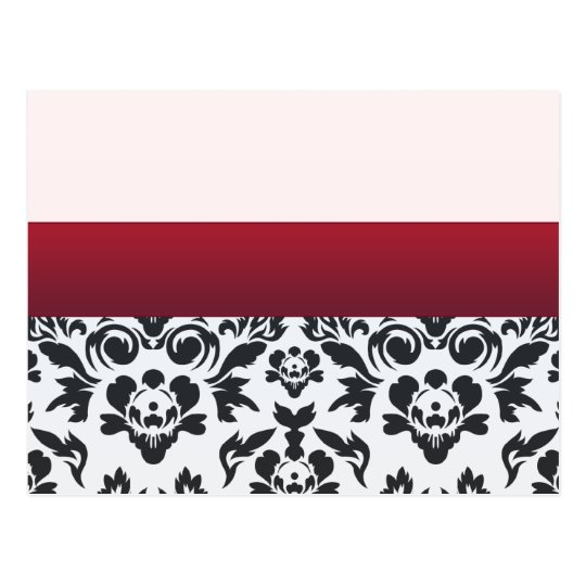White Red Damask special gift Postcard