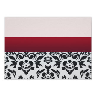 White Red Damask special gift Poster