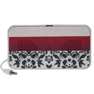 White Red Damask special gift Mp3 Speakers