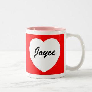 White Red Heart Mug - Customized