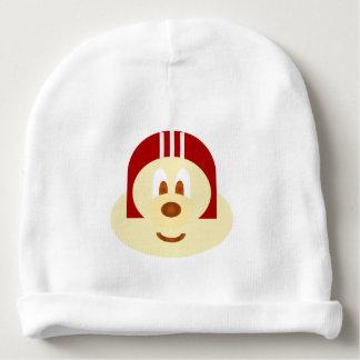 White Red Helmet 鲍 鲍 Baby Cotton Beanie