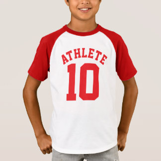White & Red Kids | Sports Jersey Design T-Shirt