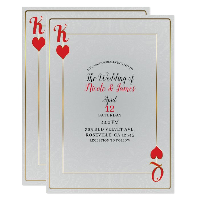 Hearts Elegant Wedding Invitation