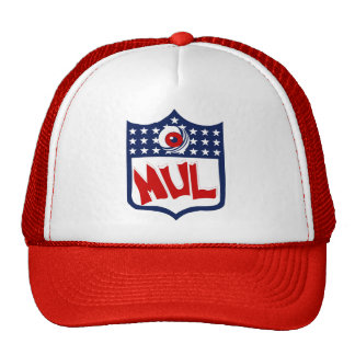 White & Red MUL Logo Cap Trucker Hat