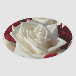 White & Red Rose sticker