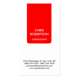 White Red Stripe Attractive Charm Business Card