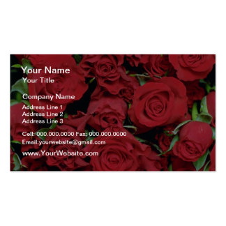 White Red sweetheart roses flowers Business Card Templates