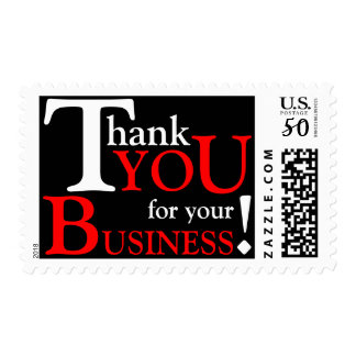 """White & Red """"Thank you for your Business"""" Postage"""