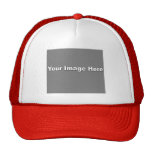 White/Red Trucker Hat Template