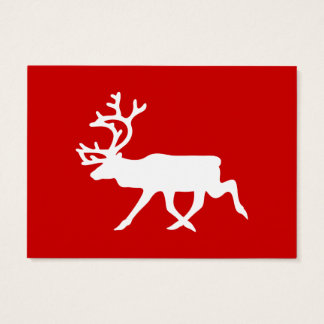 White Reindeer / Caribou Silhouette Business Card