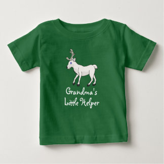 White Reindeer with Antlers Baby T-Shirt